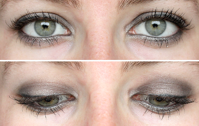 Makeup naked smoky gris